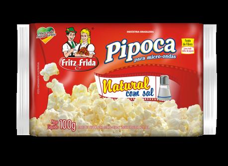PIPOCA PARA MICRO-ONDAS NATURAL COM SAL 100G
