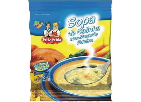 SOPA DE GALINHA COM FIDELINE 67G