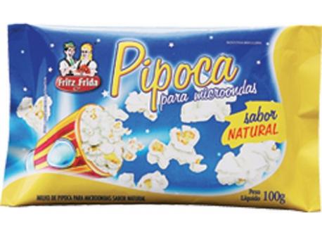 PIPOCA PARA MICRO-ONDAS NATURAL SEM SAL 100G