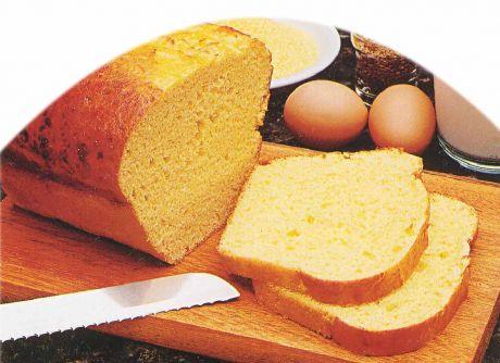 Pão de iogurte e farinha de milho