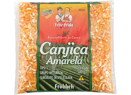 CANJICA AMARELA PREMIUM FRITZ&FRIDA 500G FD/10