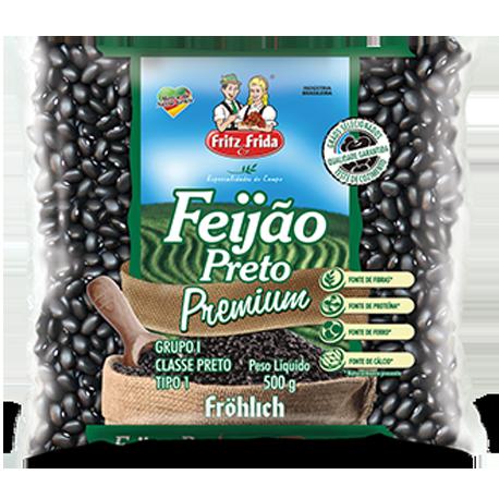 FEIJAO PRETO PREMIUM T-1 FRITZ&FRIDA 10X500G